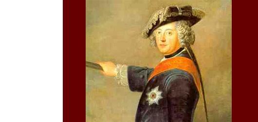 Né le 24 janvier 1712, le roi de Prusse Frédéric II  le Grand a eu une enfance éprouvante, sous la férule de son père, le «Roi-Sergent»...<br /><br />En savoir plus: <br />cliquez sur l'image