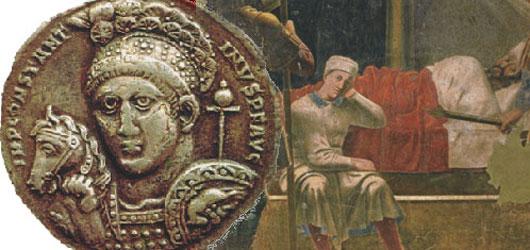 Le 13 juin 313, l'empereur Constantin promulgue un édit de tolérance qui légalise le christianisme.<br /><br />Celui-ci va prendre son essor et s'imposer en quelques décennies comme la seule religion de l'empire...<br /><br />Pour en savoir plus: <br />cliquez sur l'image
