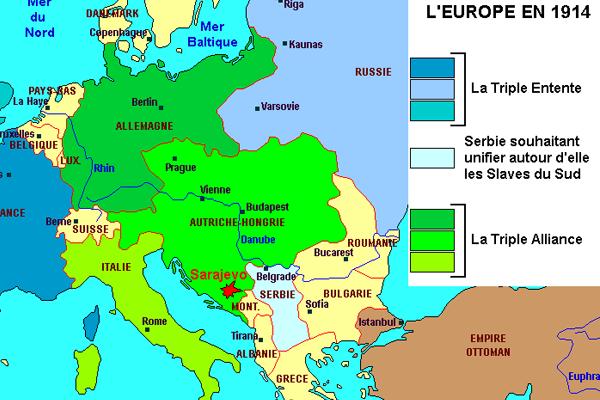 L'Europe en 1914 (Alain Houot, pour Herodote.net)