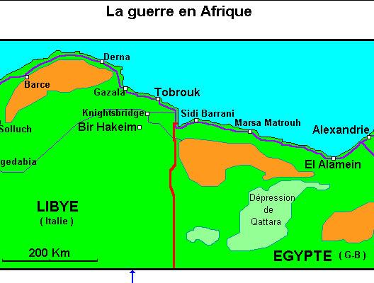 La guerre en Afrique, 1942-1943 (carte Alain Houot Herodote.net, droits réservés)