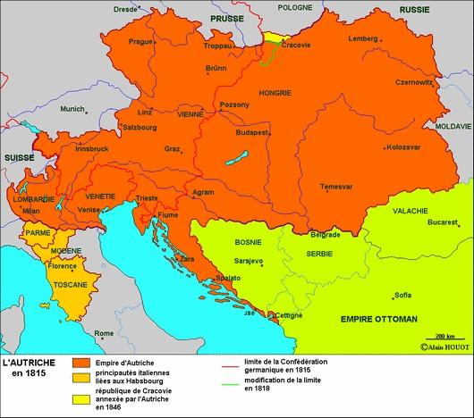 L'Autriche à l'issue du Congrès de Vienne
