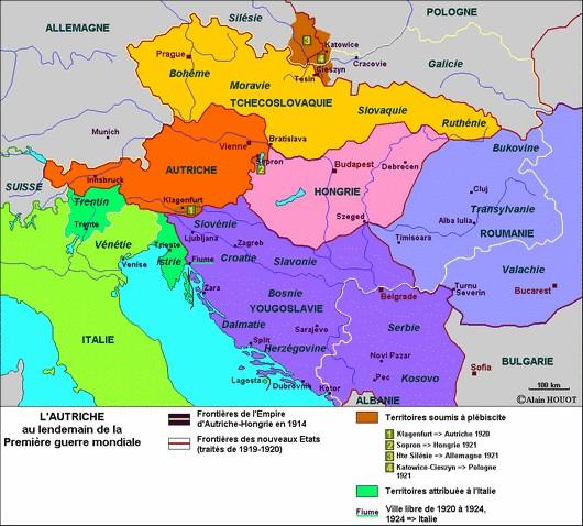 L'Autriche-Hongrie après la Première Guerre mondiale