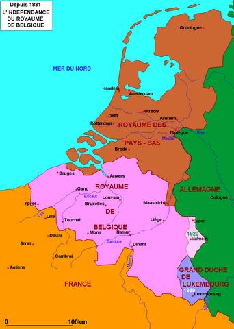 La Belgique depuis 1831 (droits réservés : Alain Houot)
