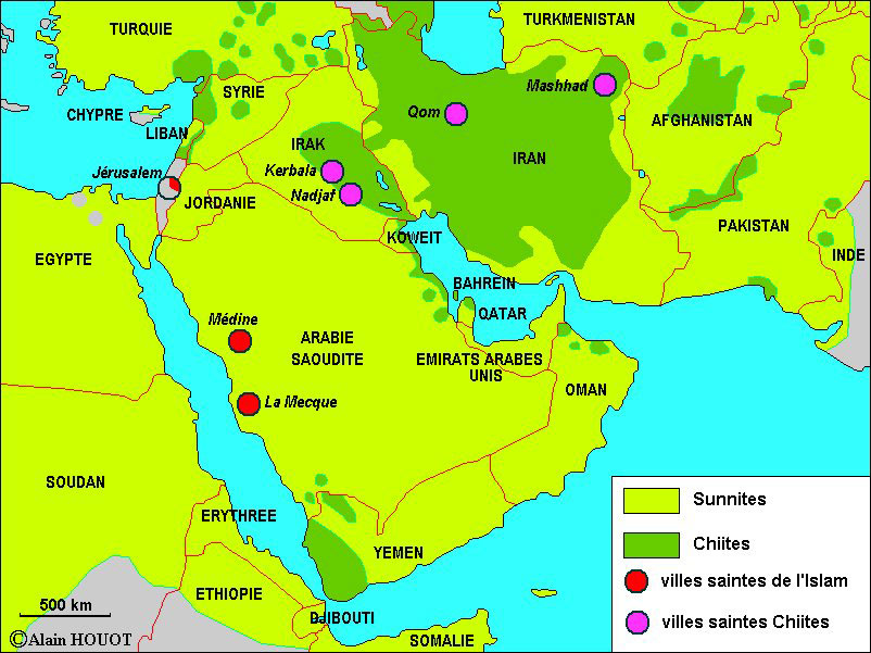 Carte Qatar Arabie Saoudite.Carteah Chiites Maxi Jpg