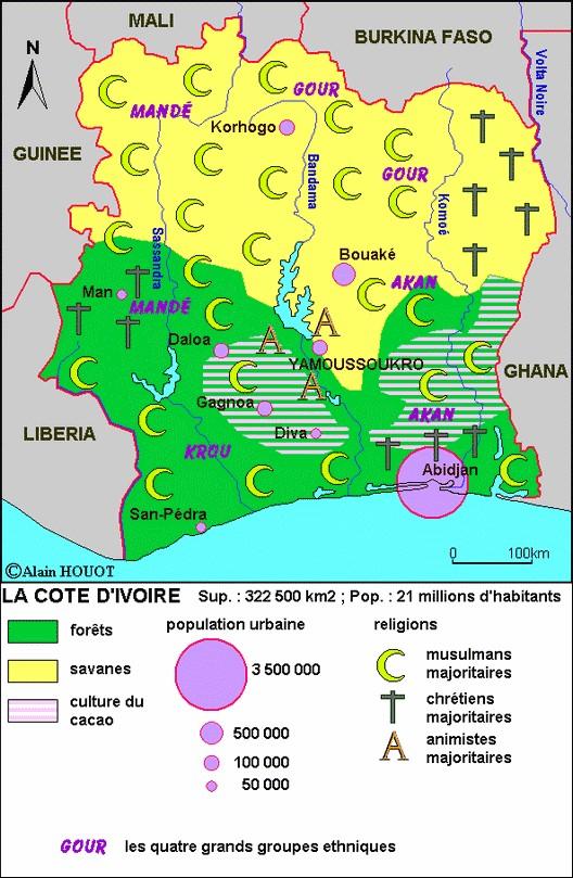 La Côte d'Ivoire, fragile mosaïque