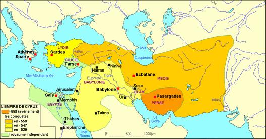 Le Moyen-Orient à l'avènement de Cyrus