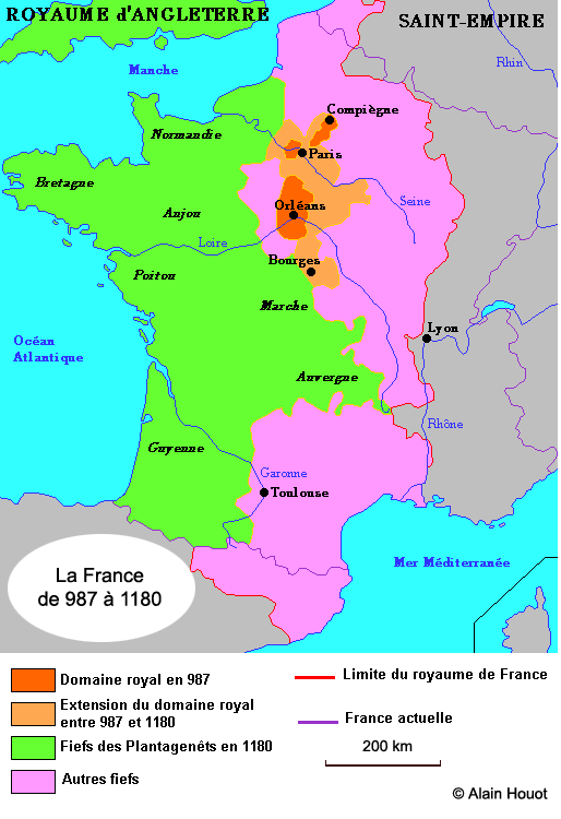 carte de france 987