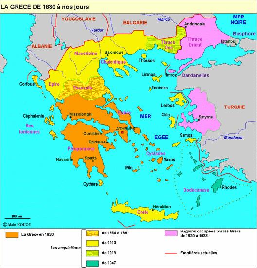 La Grèce moderne de 1830 à 1923