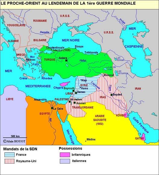 Le Moyen-Orient après la Grande Guerre