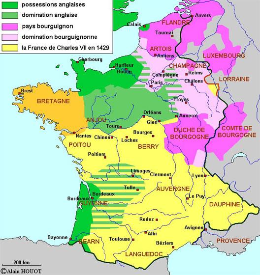 La France de Charles VII et Jeanne d'Arc