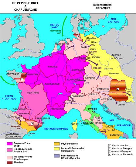 De Pépin le Bref à Charlemagne