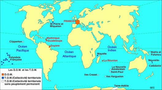 La France et ses possessions d'outre-mer