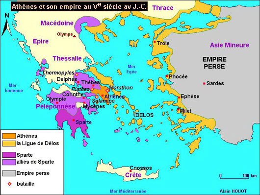 Athènes et son empire