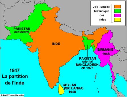 La partition des Indes britanniques