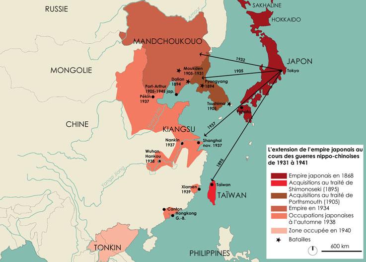 """Résultat de recherche d'images pour """"Carte de Chine : invasion japonaise Carte"""""""