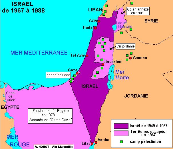 Israël à l'issue de la guerre des Six Jours
