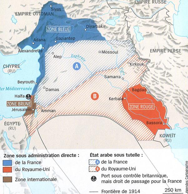 """Résultat de recherche d'images pour """"accords Sykes-Picot"""""""