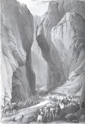 L'arm`de l'Indus s'engage dans la passe de Bolan