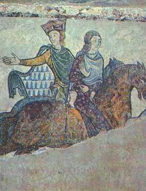 Aliénor d'Aquitaine et l'une de ses filles (église Sainte-Radegonde)