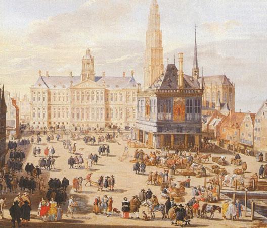 Vue d'Amsterdam au XVIIe siècle (Musée Condé, Chantilly)
