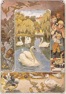 Le vilain petit canard (aquarelle d'Eugen Siegert)