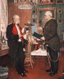 L'empereur Guillaume 1er et son chancelier Otto von Bismarck