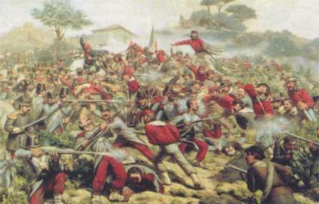 La bataille de Calatafimi, avec Garibaldi