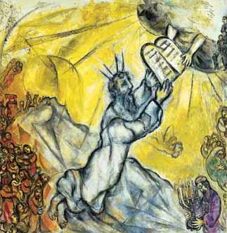 Moïse recevant les tables de la Loi (Chagall, Musée national du judaïsme)