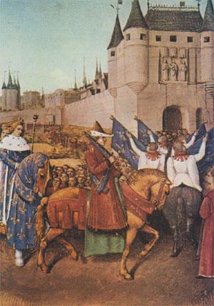 Charles V fait son  entrée à Paris en 1364