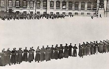 Dimanche rouge à Saint Pétersbourg, photographie d'époque