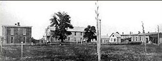 Le laboratoirede Menlo Park (West Orange) vers 1880