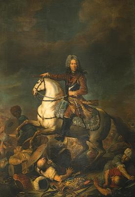 Prince Eugène en guerre contre les Turcs, par J. van Schuppen (Galleria Sabauda, Turin)