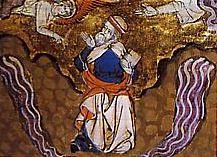 Ezéchiel console les Juifs en exil à Babylone, miniature médiévale
