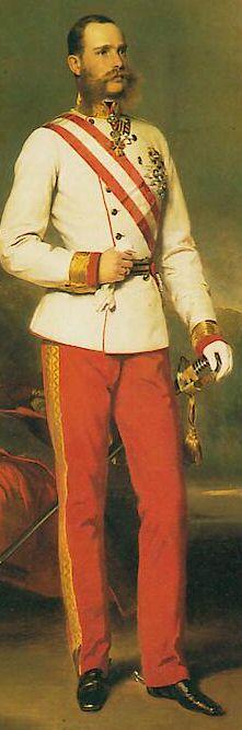 Francois-Joseph 1er de Habsbourg-Lorraine dans sa jeunesse  (Vienne, 18 août 1830 - 21 novembre 1916)