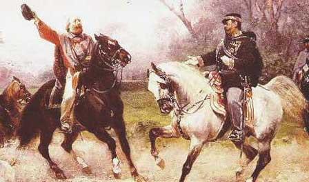 Garibaldi à la rencontre du roi Victor-Emmanuel II
