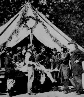 hôpital de campagne dans l'armée de l'Union