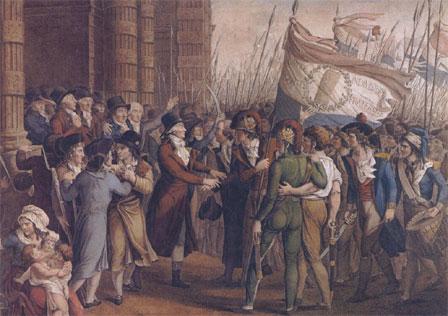 Les sans-culottes menacent les députés girondins le 31 mai 1793 (musée Carnavalet, Paris)