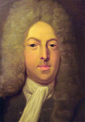 John Law de Lauriston (16 avril 1671, Édimbourg ; 21 mars 1729, Venise), portrait par Casimir Balthazar