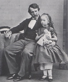 David Livingstone et sa fille Anna Mary en 1864