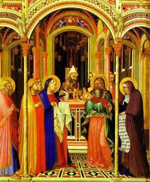 Présentation au Temple (Ambrogio Lorenzetti, XIVe siècle, Offices, Florence)