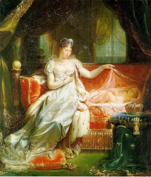 l 39 imp ratrice marie louise veillant sur le roi de rome joseph franque 1811. Black Bedroom Furniture Sets. Home Design Ideas