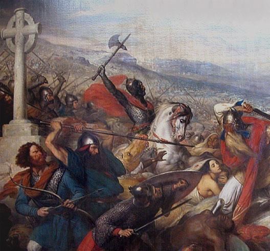 La bataille de Poitiers MartelPoitiers