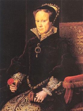 Mary 1ère Tudor, reine d'Angleterre, d'Ecosse et d'Irlande (1516-1558), par Anthonis Mor van Dashorst (musée du Prado, Madrid)