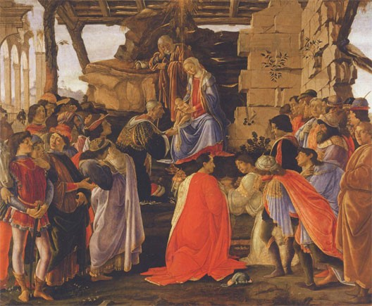 Adoration des Mages (Sandro Botticelli, 1476, Offices, Florence)