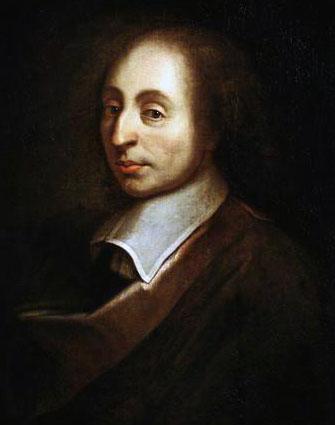 Blaise Pascal (19 juin 1623 - 19 août 1662), portrait posthume réalisé en 1690 d'après une peinture de François II Quesnel (château de Versailles)