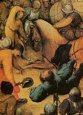 Saint Paul sur le chemin de Damas, par Brueghel l'Ancien (Flandres, XVIe siècle), détail