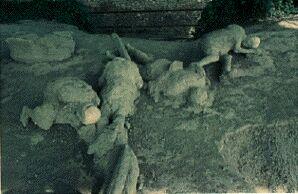 Victimes de la catastrophe de Pompéi (moulages)