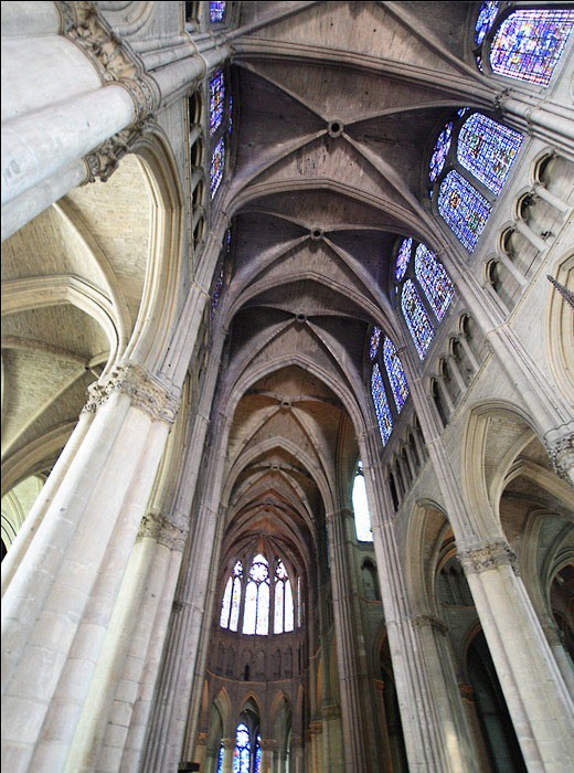 la nef centrale de la cath drale notre dame de reims photo victor scherrer dr. Black Bedroom Furniture Sets. Home Design Ideas