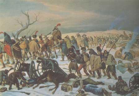 La retraite de Russie (gravure d'époque)