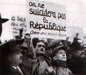 Manifestation de la gauche à Paris le 21 février 1934